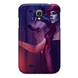 Shock-dirt Proof Evil Red Riding Hood Tamed Wolf Case Cover For Galaxy S4