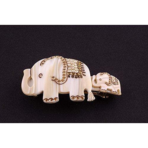 MC Davidian - Barrette matic 7cm Éléphants MM Full éléphant en famille - alba, Décor 1