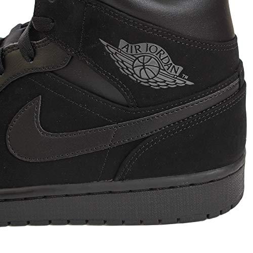 050 Nike Chaussures noir Noir De 1 Hommes Mid Fonc Jordan Air Basketball Gris 7H7rTx