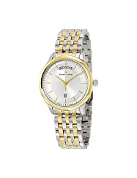 Maurice Lacroix Les Classiques Day- Date Silver Dial Silver- Gold Plated Stainless Steel Mens Quartz Watch LC1227-PVY13-130