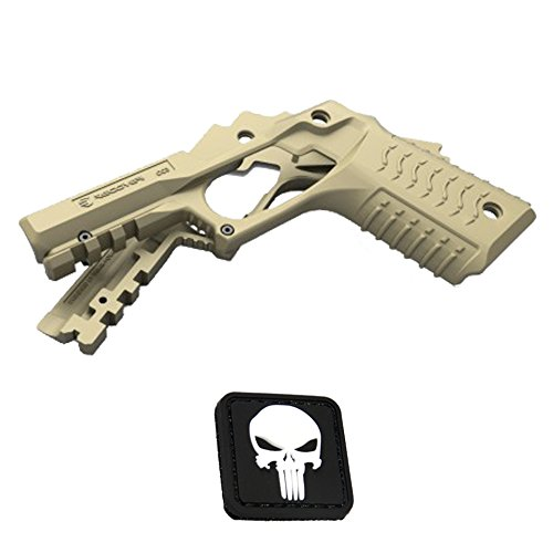 Recover Tactical TAN CC3 Grip and Rail for 1911 style