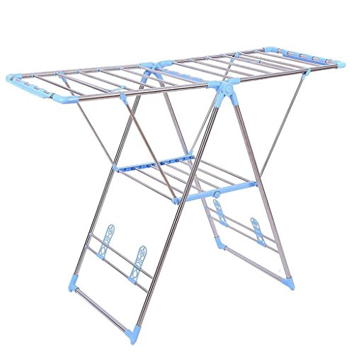 Clothes Drying Rack Folding Hanger Dryer Indoor Stainless steel +plastic Size 50'' L x 18'' W x 35.5'' H