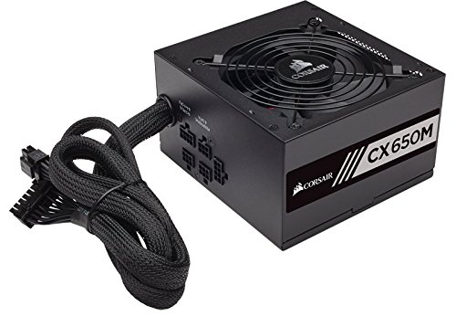 CORSAIR CX-M Series 650W ATX12V 2.4/EPS12V 2.92 Modular Power Supply Matte black CX650M