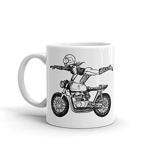 Women Who Ride - Superwoman Mug 11 Oz White Ceramic