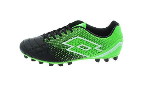 Lotto Spider 700 Xiii Hg28, Botas de Fútbol para Hombre Negro / Verde (Blk / Mint Fl)