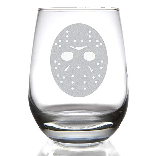 Minimalist FRIDAY THE THIRTEENTH 15 ounce Stemless Wine Glass -
