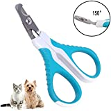 FAOUGESS Cat Nail Clippers - Professional Small Dog Nail Clippers - Pet Claw Trimmer Cutter Scissor - Great Grooming Tool for Puppies - Cats - Rabbits and Small Breeds (Green-White)