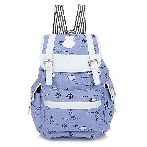 Polvos Azul Mochila Bolso Para Small Mujer De Talco Yixin 8xfTIwqA48