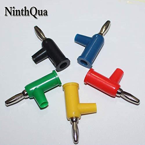 Davitu 1 pcs DIY Solderless Stackable 4mm banana plug,Standard Plug,30VAC-60VDC/15A - (Color: Red)