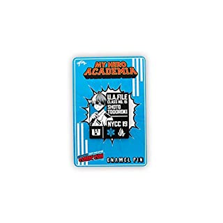 JUST FUNKY My Hero Academia Shoto Todoroki Pin | Exclusive My Hero Academia Collectible Profile Pin | Measures 2 Inches Blue