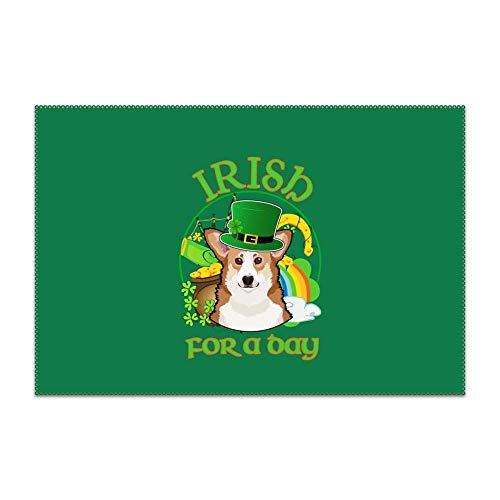 - UTRgdfsvxc Michael Trollpoe Placemats Heat-Resistant Anti-Skid Washable Dining Table Place Mats Kitchen Table Mats (Corgi Irish Flag) 1 Piece
