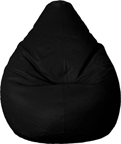 CADDYFULL XXXL Bean Bag Without Beans  Black  Bean Bag Covers