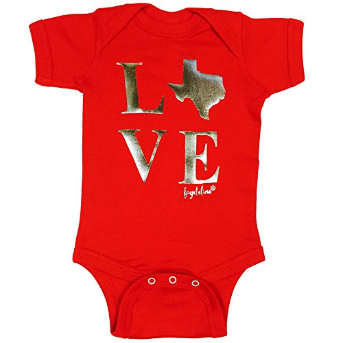 Pass Plaid Shirt (Fayebeline Texas Baby Bodysuit Boutique Quality Texas Love Red, 6-12M)