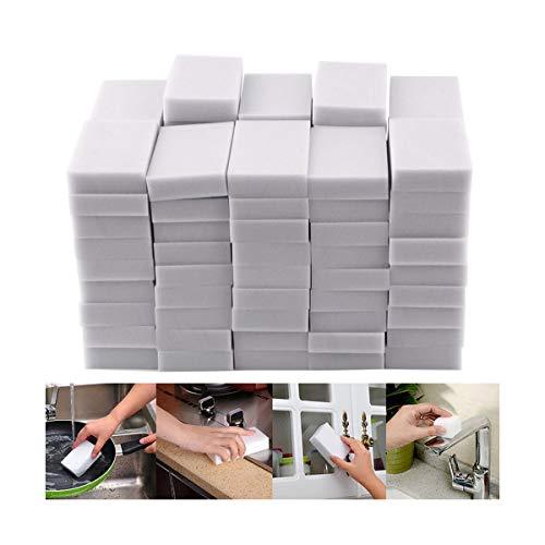 Yukuai ❥Magic Sponge Eraser Cleaning Sponge Multi-Functional Foam Pads Bathtub Floor Baseboard Bathroom Wall Cleaner (20PCS)