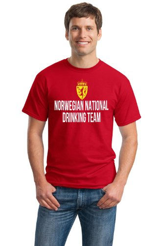 NORWEGIAN NATIONAL DRINKING TEAM Unisex T-shirt / Funny Norway Beer Tee