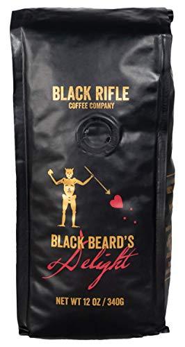 Black Rifle Coffee Company, Blackbeard's Delight Coffee, Dark Roast, Whole Bean 12 oz Bag