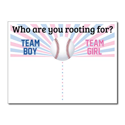 VictoryStore Gender Reveal Party Supplies - Baseball Gender Reveal Vote Board Who are You Rooting for Size 18 Inch x 24 Inch