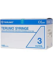 100pcs/box, 3mL Disposable Terumo Syringes Luer Slip Hypodermic without Needle
