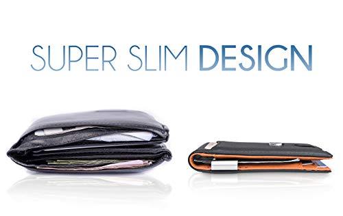 Money Clip Wallet HOUSTON Mens Wallet RFID Blocking Wallet - Minimalist Mini Slim Wallets Bifold for Men with Gift 6