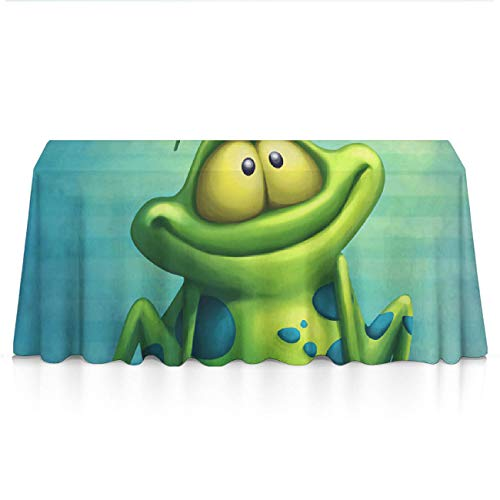GOAEACH Tablecloths, Spillproof Wrinkle Free Table Decor Table Protectors - 52 x 70 inches, Frog Watch Butterfly, Family Dinners, Gatherings, Massage, Indoor Or Outdoor Parties ()