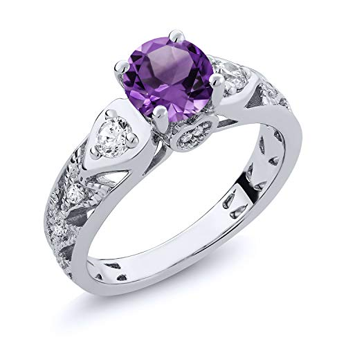 Gem Stone King Sterling Silver Purple Amethyst Women