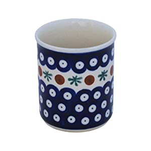 Boleslawiec Pottery Mug without handles, 0.25 L, Original Bunzlauer Keramik, Decor 41