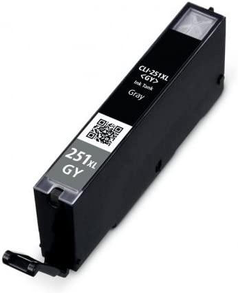 Bulk: CCLI251XLGY Replacement for Canon CLI-251xl GY; Models: PIXMA iP7220 Myriad Compatible Inkjet Cartridges PIXMA iP7250; Gray Ink 10 Inkjet Cartridges