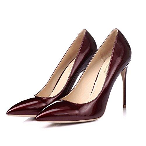 snfgoij Sexy Tacones Tal Vino De Fiesta Boda Corte Nocturno Altos Rojo De Mujer Trabajo Zapatos Club xwwrOTpn