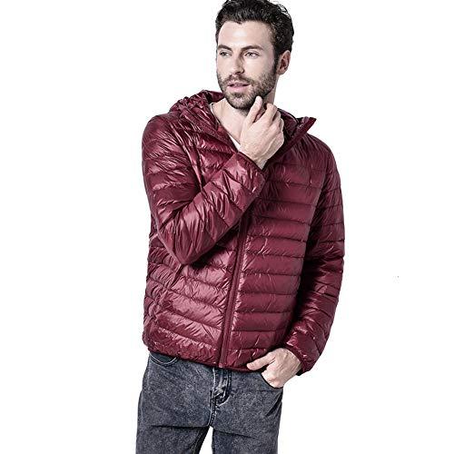 À Capuche Doudoune Newbestyle Blousons Duvet Ultra Veste Rouge Homme Chaud Portale Hiver Légère Manteau wx8zqfC