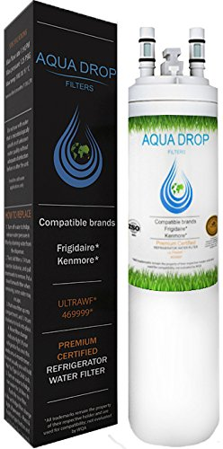Frigidaire Water Filter Ultrawf - Kenmore 9999 46-9999 WF3CB fghc2331pfaa Puresource Gallery Electrolux Professional Side By Side Refrigerator Compatible [ Certified by WQA ] - Aqua Drop Filters