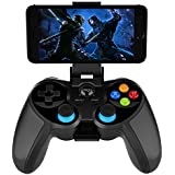 Wireless Bluetooth Game Controller for Android Phone Tablet, Smart TV, TV Box Gamepad + Joystick + Phone Holder Gamepad Trigg