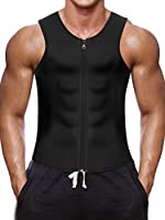 Men Waist Trainer Vest for Weightloss Hot Neoprene Corset Body Shaper Zipper Sauna Tank Top Workout Shirt