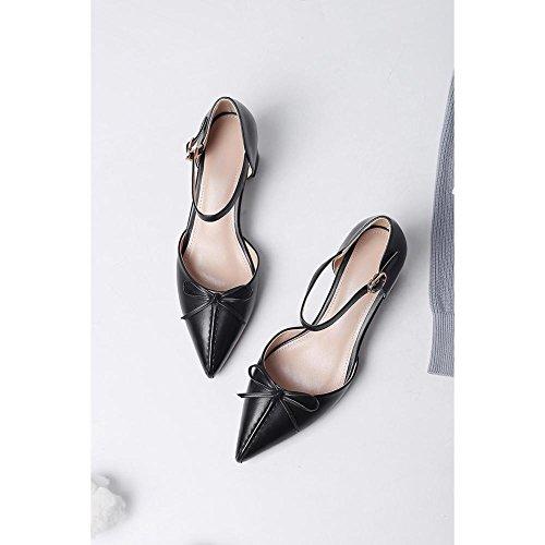 Caminar WSXY Zapatos Black Cinturón Tacón Para Zapatilla Confort Peep Toe Sandalias KJJDE Exquisita de Hebilla Mujer L0223 Chanclas a61ATxAwIq