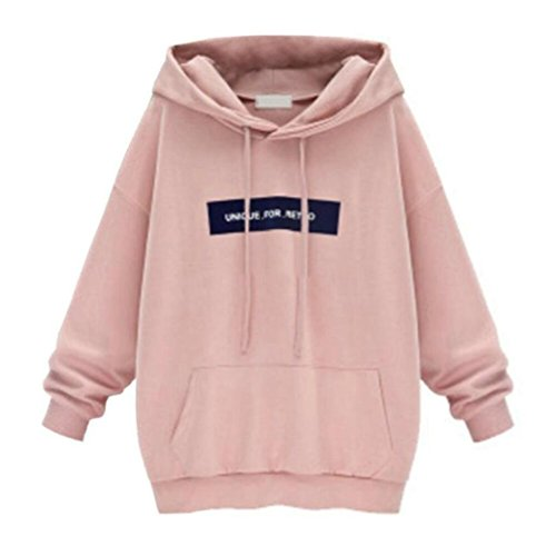 Women Autumn Hoodie Blouse Todaies Womens Long Sleeve Hoodie Sweatshirt Jumper Letter Pullover Tops Blouse (Reversible Hoodie Flannel)