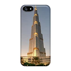 New Fashion Premium Tpu Case Cover For Iphone 5/5s - Magnificent Burj Khalifa In Dubai