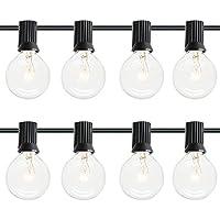 dephen 25Ft G40 Globe String Light with 25 Clear Bulbs