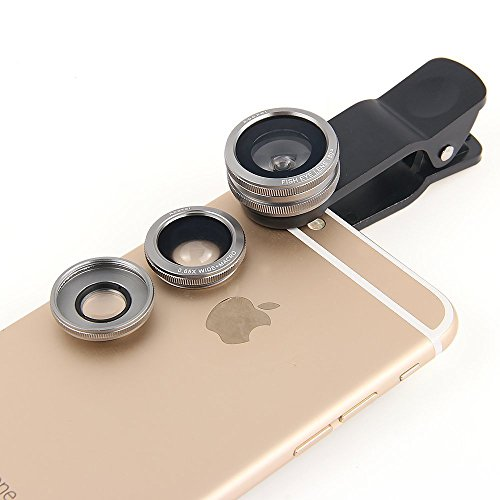 3-in-1 Clip Lens for Mobile Phones and Tablets Set of 2 (Red) - 7