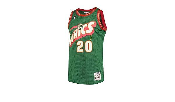 Camiseta NBA Seattle Supersonics Gary Payton 20 (Verde), M: Amazon.es: Ropa y accesorios