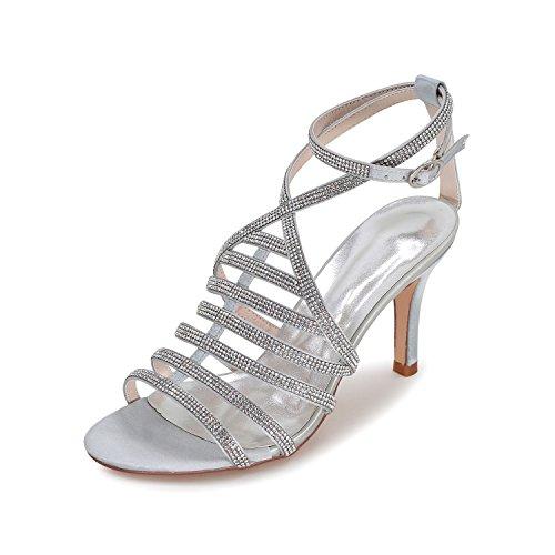 Korkokengät Sandaalit Kengät Häät Tsbridal Hapokas Prom Hyvät Silver01 Naisten xq6pqRHwnS