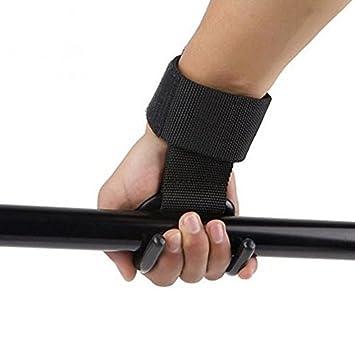 XIling - Gancho de levantamiento de pesas para gimnasio, correas para fitness, soporte de muñeca, pesas, levantamiento de pesas, gancho para mancuernas: ...