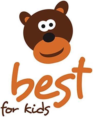 Best For Kids Play and Fun Matelas en viscose pour parc 100 x 100 x 4 cm