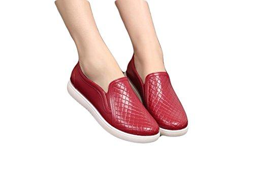 Ein bißchen Mode Wunderschöne Kurz Rutschfest Damen Gummistiefel Rot