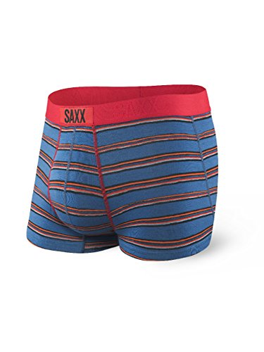 Saxx Underwear Men's Vibe Trunk Modern Fit Brushed Stripe Large