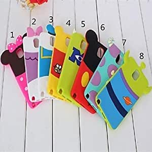 LZX Cute Cartoon Doll Pattern Silicone Soft Case for Samsung Note3 (Assorted Color) , 1#