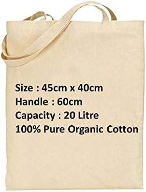 Pack de 10 bolsas de la compra reutilizables de lona de alta calidad con asa larga