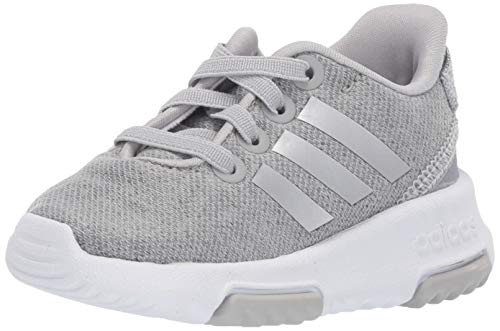 adidas Baby Racer TR, Grey/Silver Metallic/White, 3K M US Infant