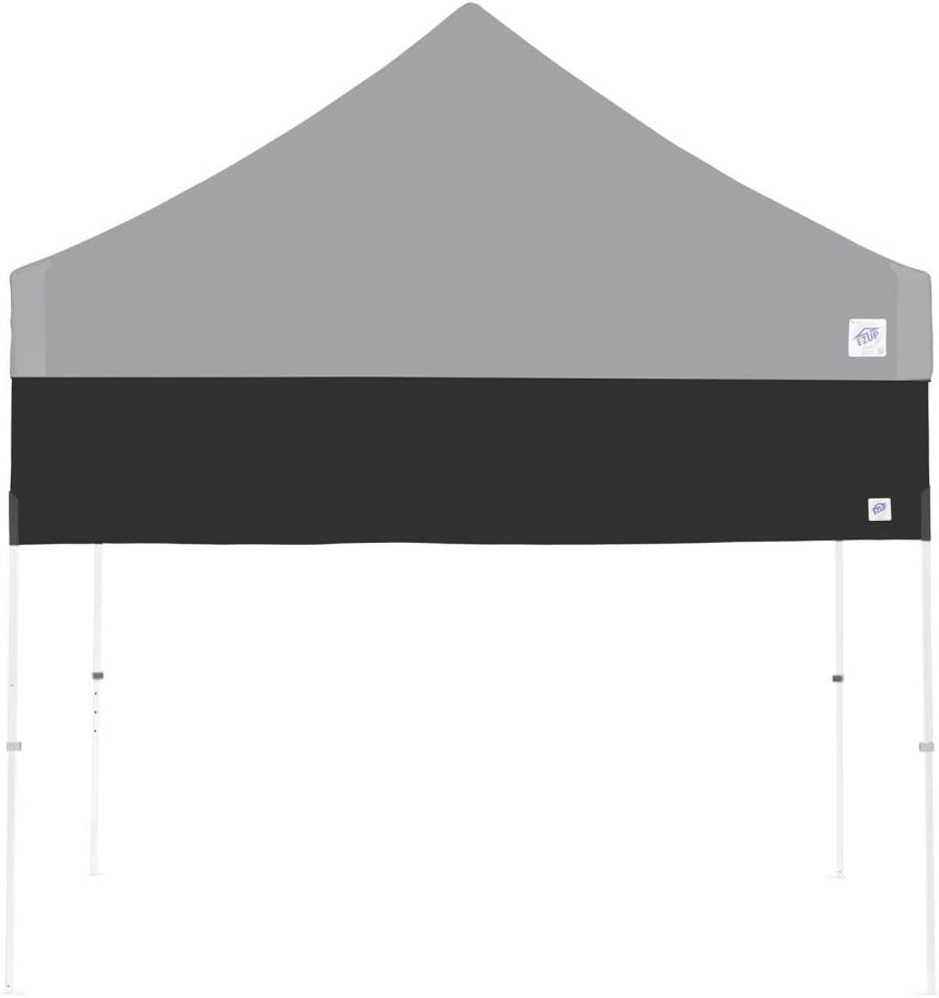 E-Z UP Recreational Half Wall, Fits Straight Leg 10' x 10' Canopy, Truss Clips and Storage Bag, Black