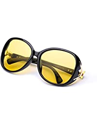 Oversized Night Vision Glasses for Women, Polarized UV400...