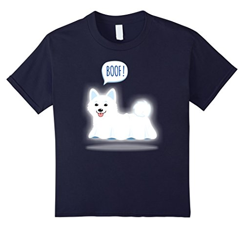 Kids Cute Shiba Inu Dog Ghost BOOF Funny Halloween T-Shirt 12 Navy Halloween Ghost Dog T-shirt