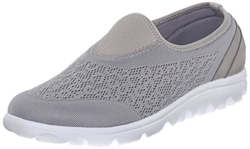 Propet Womens Travelactiv Slip-on Fashion Sneaker Argento